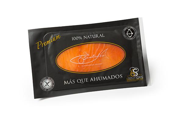 SALMÓN AHUMADO PRECORTADO CENTRO 80 GR