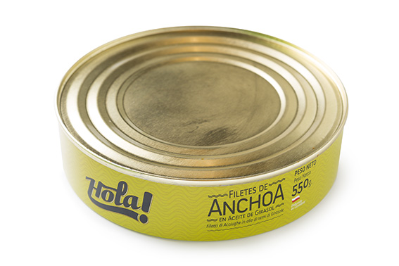 ANCHOA HOLA (PERÚ) HOLA ( LATA METAL ) 550-1000 GR