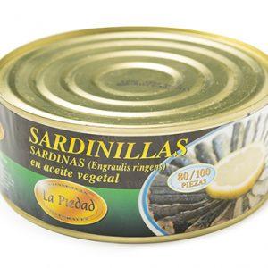 SARDINILLA EN ACEITE 80-100 PIEZAS LATA